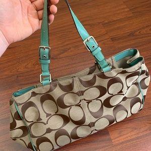 Coach zipper top bag